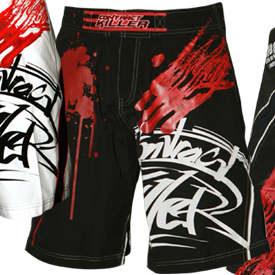 "Contract Killer ""Stained"" Fight Shorts"