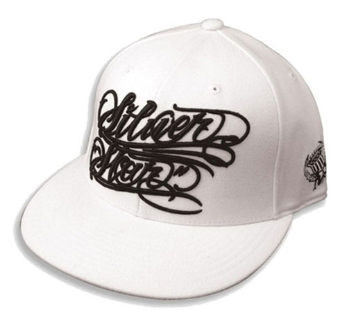 Silver-Star-Hat-3. Product Name: Silver Star Tattoo Script Hat [BUY]