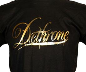 Dethrone Gold Foil Script Logo T-shirt