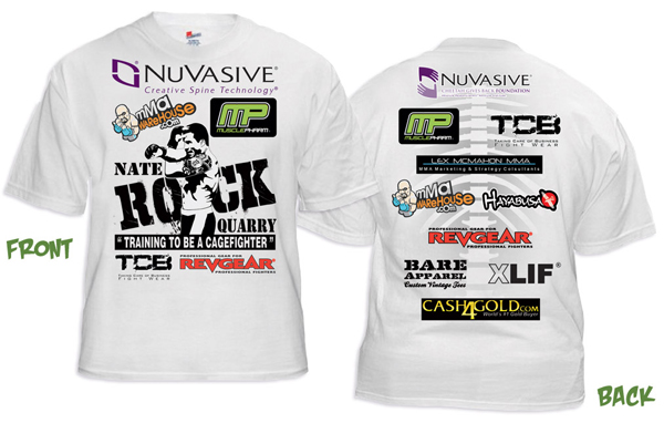 Nate quarry the rockhammer walkout t shirt for Sponsor t shirt design