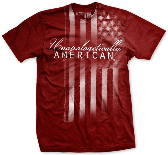 Ranger up unapologetically american t shirt for American apparel custom t shirts