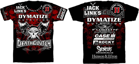 Deathclutch x brock lesnar ufc 121 t shirt for Sponsor t shirt design