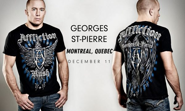 Face cover Affliction Team GSP Georges St-Pierre A9756 Unisex White Bandanna