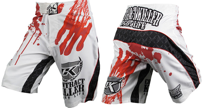 contract-killer-stained-fight-shorts