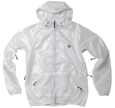 all white windbreaker