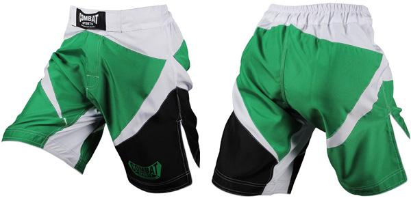 combat-mma-shorts-green