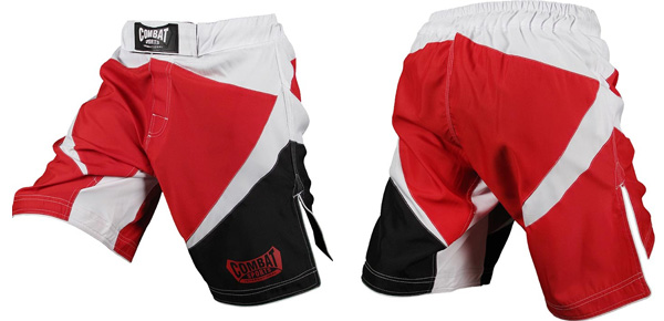 combat-mma-shorts-red