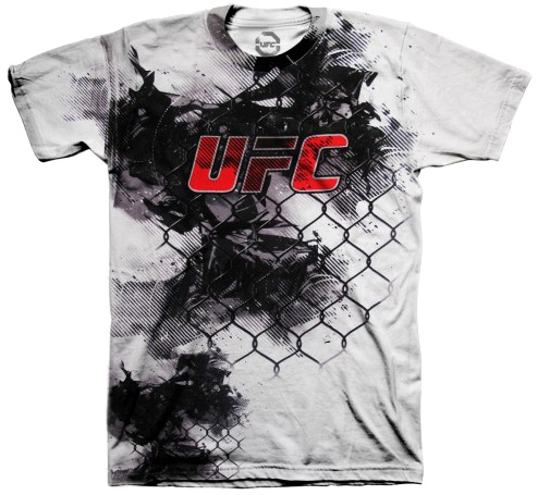 ufc-cage-red-logo-tee