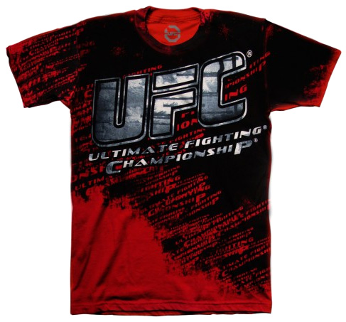 ufc-red-smudge-tee
