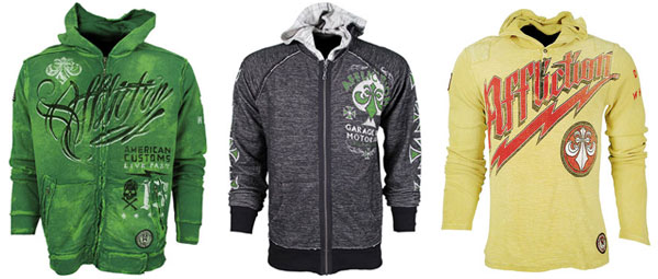 Affliction MMA Hoodies   Fall 2011 Collection