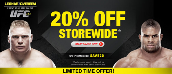 Current Ufc Store Coupons This page contains a list of all current Ufc Store coupon codes that have recently been submitted, tweeted, or voted working by the community. Verified Site.