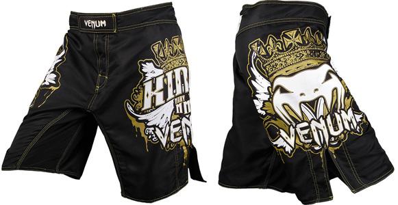 venum kings mma fight shorts black