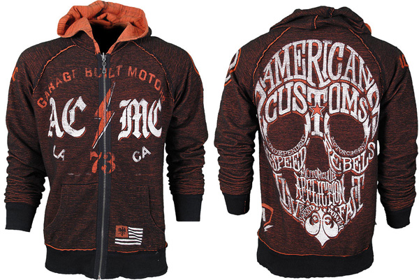 affliction strike force hoodie back