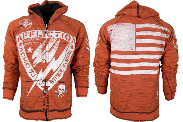 affliction strike force hoodie front