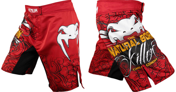 carlos condit ufc 143 fight shorts red
