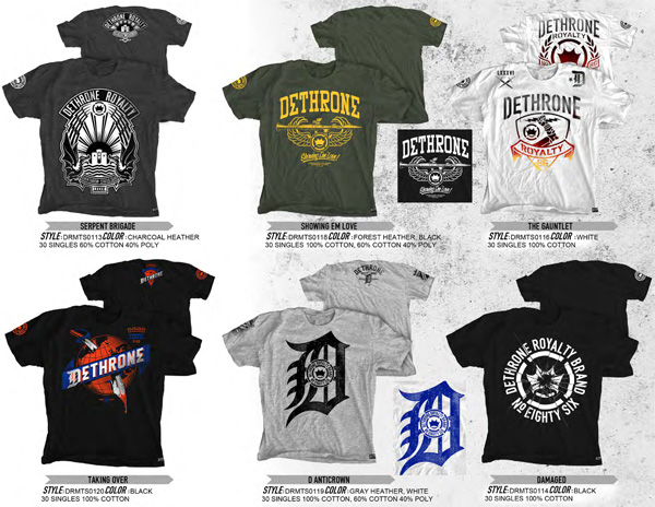 dethrone shirts spring 2012 preview 2