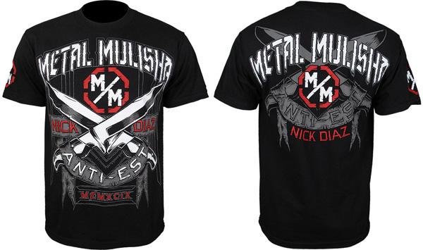 metal mulisha nick diaz ufc 143 shirt