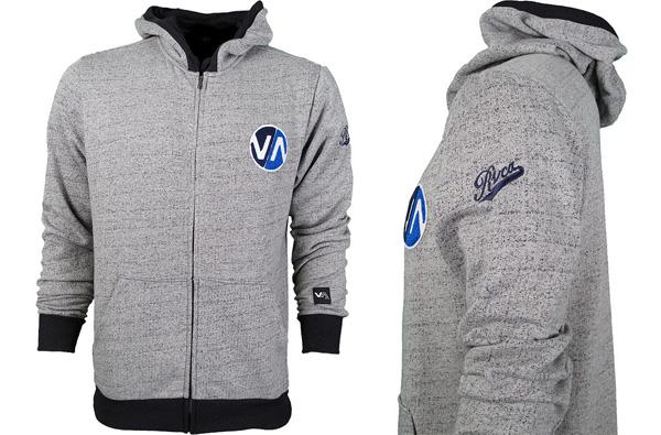 rvca grey hoodie