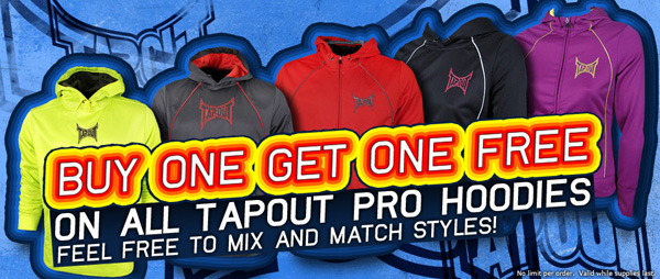 free tapout hoodie deal