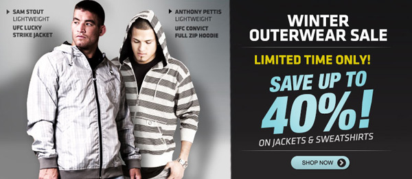 UFC Winter Outerwear Sale - Up to 40% Off!