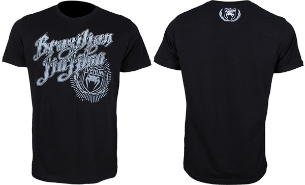 venum bjj champion tee black