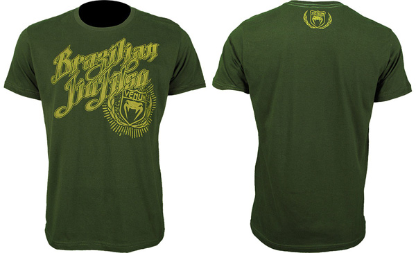 venum bjj champion tee green