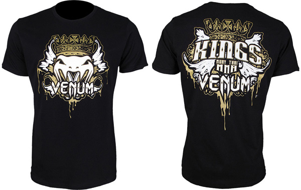 venum kings mma tee black