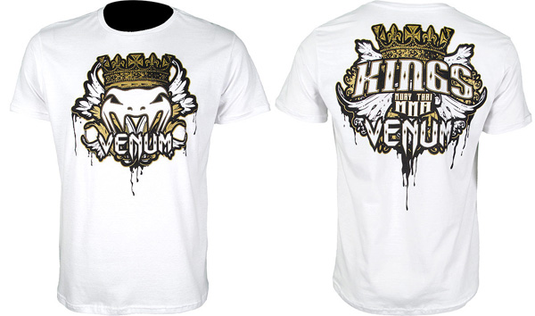 venum kings mma tee white