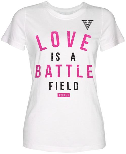 vxrsi love battle womens tee