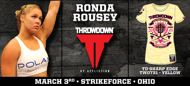 throwdown-ronda-rousey-strikeforce-shirt