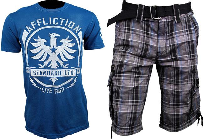 affliction-shirt-and-cargo-shorts