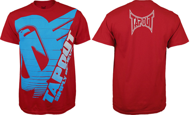 tapout-silver-tech-shirt-red