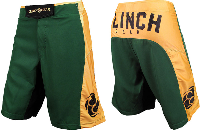 clinch-gear-ringside-shorts-green