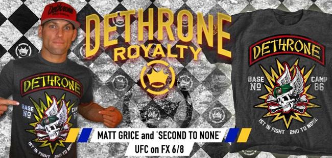 dethrone-matt-grice-ufc-on-fx-3-shirt