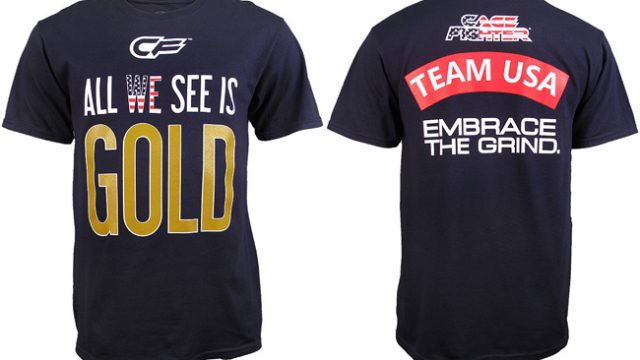 "36d45302061 Cage Fighter ""All We See is Gold"" Team USA Shirt"