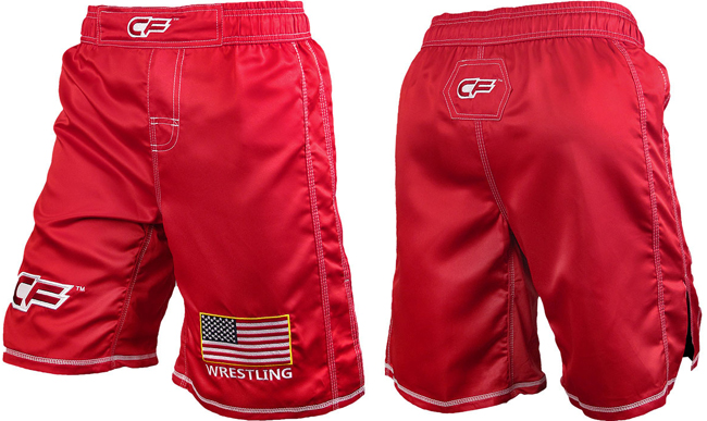cage-fighter-usa-fight-shorts-red