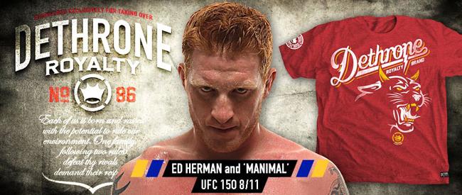 dethrone-ed-herman-ufc-150-shirt