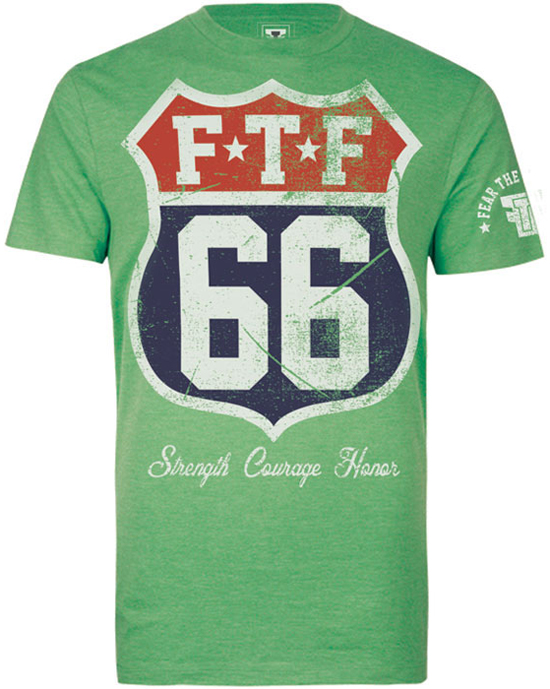 fear-the-fighter-route-66-shirt-green