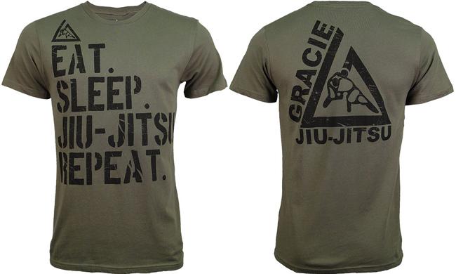 gracie-academy-eat-sleep-jiu-jitsu-shirt
