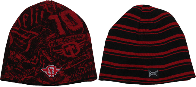 tapout-burned-beanie-red