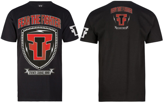 fear-the-fighter-red-shield-shirt