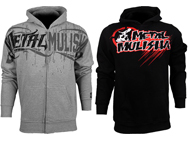 The Metal Mulisha fight gear line keeps the new stuff coming for Fall 2012 with this first round of full-zip and pullover hoodies