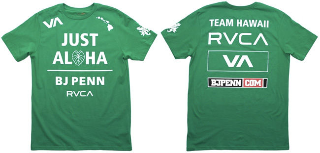 rvca-bj-penn-ufc-on-fox-5-walkout-shirt-green