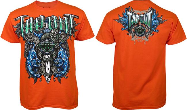 tapout-tiger-snakes-shirt-orange