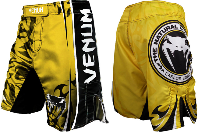 venum-carlos-condit-ufc-154-fight-shorts-yellow