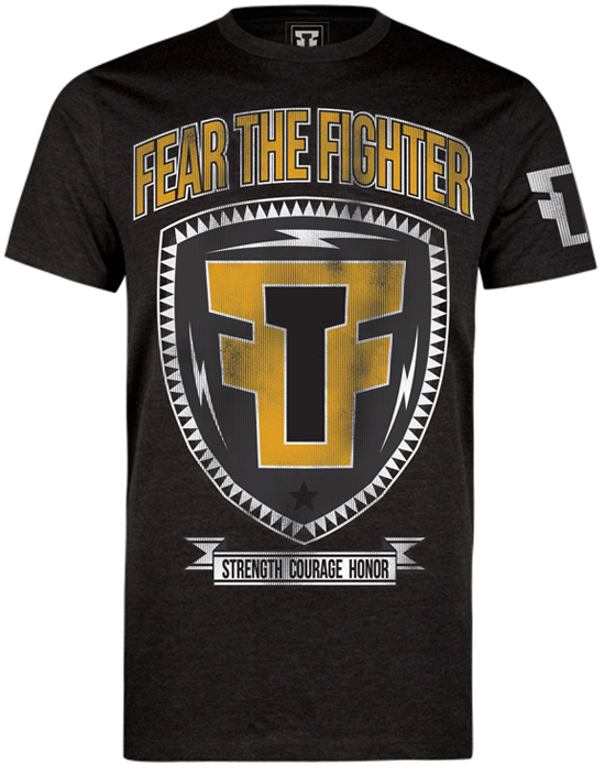 fear-the-fighter-yellow-shield-shirt