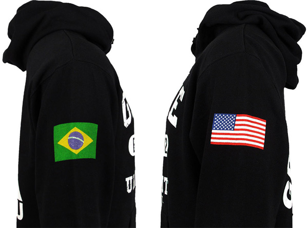 Gracie Jiu Jitsu Gracie University Flag Hoodie