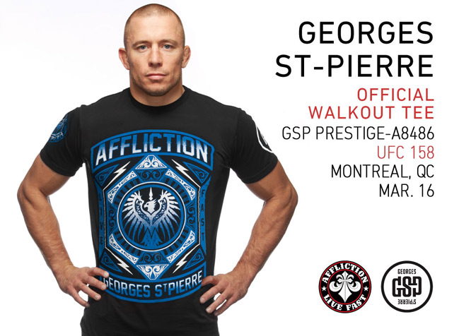 affliction georges st pierre gsp prestige ufc 158 walkout shirt