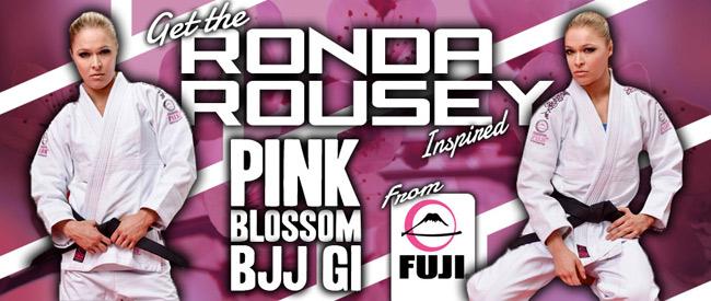 Ronda Rousey FUJI Pink Blossom BJJ Gi | FighterXFashion com