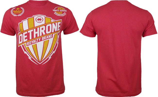 dethrone-bolt-shield-shirt-red